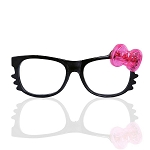iHeartRaves LED Light Up Bow Kitty Glasses