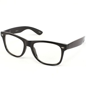 9ae196cea5 CLEAR LENS 80 s Style Vintage Wayfarer Style Sunglasses With Clear Lens.  Very Popular.